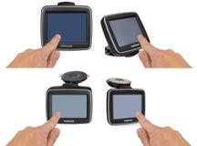 tamtamu GPS samochodowa nawigacja z rękojeścią Palec wskazuje Zdjęcia Stock