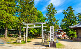 Tamukeyama Hachimangu Shrine in Nara, Japan Stock Image