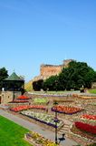 Tamworth castle and gardens. Royalty Free Stock Photography