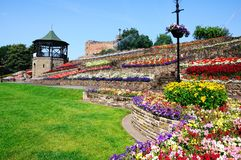 Tamworth castle and gardens. Royalty Free Stock Photo