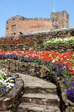 Tamworth castle and gardens. Stock Photo