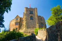 Tamworth castle in the summer sun stock photos