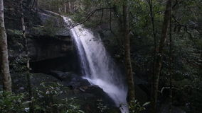 Tamyai waterfall in Phu Kradueng National Park, Loei province, Thailand stock video