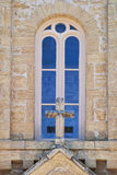 Tan教会窗口 库存图片