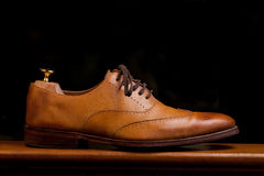 tan ботинок mens платья стоковая фотография rf