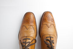 tan ботинок mens платья Стоковое Фото