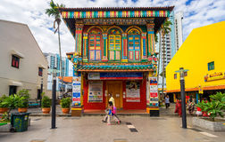 Tan滕国Niah五颜六色的议院在一点印度,新加坡 免版税库存照片