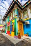 Tan滕国Niah五颜六色的议院在一点印度,新加坡 图库摄影