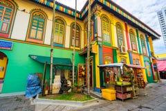Tan滕国Niah五颜六色的议院在一点印度,新加坡 库存图片