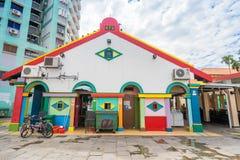 Tan滕国Niah五颜六色的议院在一点印度,新加坡 免版税库存图片