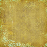 Tan and Aqua Damask Royalty Free Stock Image