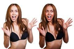 Tan avant et après Images libres de droits