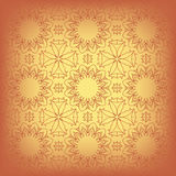 Tan background. With abstract flowers and crosses Royalty Free Stock Image