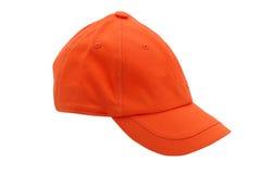 Tan baseball cap. Isolated on white Stock Photography