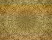 Tan batik background wallpaper. Background wallpaper. An illustration of a batik design in two shades of brown or tan in a circular design for use in website Stock Images