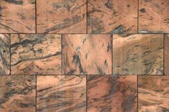 Tan and black marbled stone work Royalty Free Stock Photo