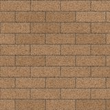 Tan Brick Wall. Brick Wall Tan Pattern Background / Brown Brick Surface / Seamless texture Royalty Free Illustration