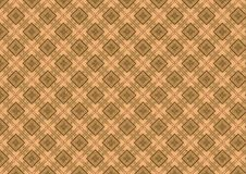 Tan Brown Diamond Pattern. A brown colored antique quilt texture pattern in tan brown diamond shapes ideal as background or layer Stock Photo