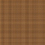 Tan Brown Woven Basketweave Background. Repeated braiding of horizontal and vertical stripes creates a 3-D basket weave pattern in brown, woven with double and Royalty Free Illustration