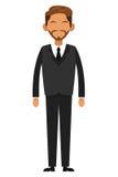 Tan businessman with beard icon Stock Image
