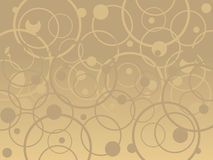 Tan Circles. Vector Background in tan and brown colors Stock Photos