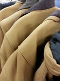Tan coats Royalty Free Stock Image