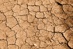 Tan Cracked Ground, Dirt or Mud Stock Photography