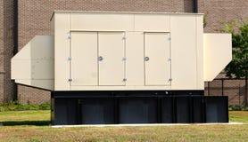 Tan Diesel Powered Generator. Large Tan Industrial Diesel Powered Generator stock image