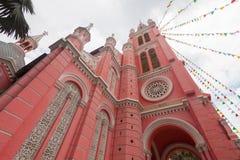 Tan Dinh Church - die rosa katholische Kirche in Ho Chi Minh City, stockbild
