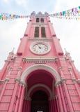Tan Dinh Church - l'église catholique rose en Ho Chi Minh City, Image stock