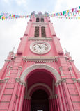 Tan Dinh Church - la chiesa cattolica rosa in Ho Chi Minh City, immagine stock