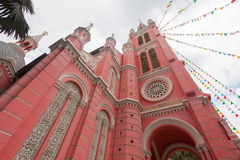 Tan Dinh Church - the Pink Catholic Church in Ho Chi Minh City,. Vietnam Stock Image