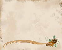Tan Grunge Floral. Tan grunge background with swirled floral bottom border Stock Photography