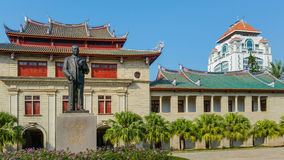 Tan Kah Kee. Statue of Mr. Tan Kah Kee, in front of his memorial hall located in the Xiamen University stock image