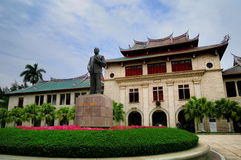 The Tan Kah Kee Statue in Xiamen University. Xiamen University is one of the comprehensive universities under the direct leadership of the Ministry of Education stock photo