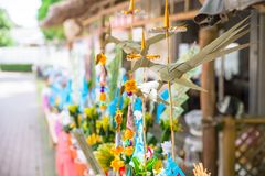 Tan Kuay Salak Festival- Northern Thai ritual that people will give foodstuff and valuable things to the temple and monks. Lampang Thailand-September 20 2017 Tan Royalty Free Stock Images