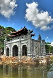 Tan Loc, Vietnam. A structure being reconstructed in the ancient Vietnames capital of Tan Loc Stock Image