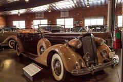 Tan and maroon 1937 Packard V12 Royalty Free Stock Photo