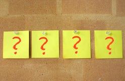 Tan muchas preguntas Fotos de archivo libres de regalías