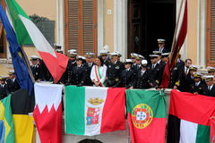 TAN parade of foreign navies Royalty Free Stock Image