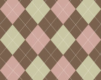 Tan, pink and brown argyle Royalty Free Stock Images