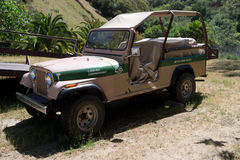 Tan safari jeep. Safari mod jeep Stock Photography