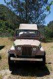 Tan safari jeep. Safari mod jeep Royalty Free Stock Photography
