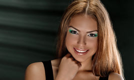 Tan skin girl Stock Image