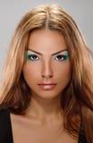 Tan skin girl Stock Images