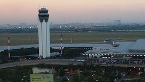 TAN SON NHAT airport stock video footage
