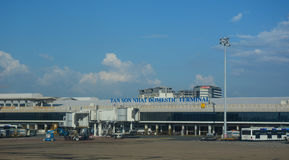 Tan Son Nhat Airport, Vietnam. View of Domestic Terminal at Tan Son Nhat Airport, Vietnam. The airport is Vietnam's largest international airport in terms of Stock Photography