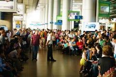 Tan Son Nhat international airport stock photo