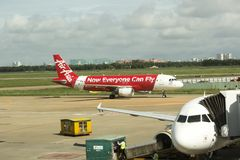 Tan Son Nhat International Airport Vietnam Arkivfoton