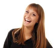 Tan sonriente joven hermoso de la muchacha adolescente Imagen de archivo
